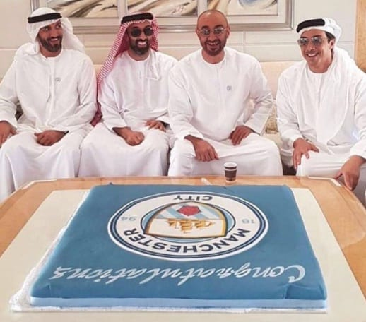 WATCH: SHEIKH MANSOUR CELEBRATES CITY TITLE WIN WITH CROWN PRINCE OF ABU DHABI!
