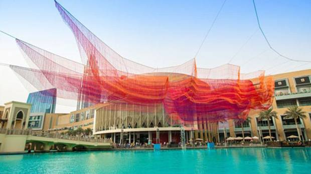 Have you seen the red sculpture outside The Dubai Mall?