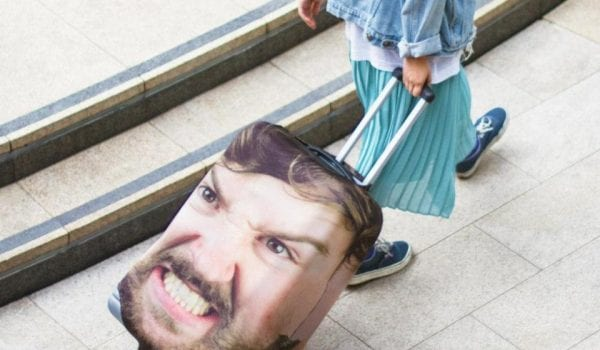 Get a suitcase with your partners face on!