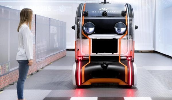 This new autonomous car has eyes!